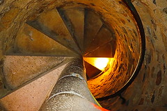 Stairway to the Top (Laura_Krebs) Tags: stairs old cement brick up spooky stairwell