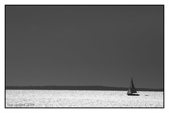 April (GR167) Tags: blackandwhite blacksky sail sailing dinghy monochrome sloop floridakeys balmy