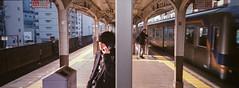 * (Sakulchai Sikitikul) Tags: street snap streetphotography jr train 24mm minoltaps japan osaka japanese panorama film kodak portra 400