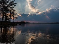 Sonnenuntergang Törn 042019 02 (U. Heinze) Tags: schweden sverige sweden blekinge olympus penf 1240mm wasser see sonnenuntergang sky himmel