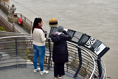 History Lesson (Croydon Clicker) Tags: signs information history river water stairwell railings women tourists people london cityoflondon londonbridge