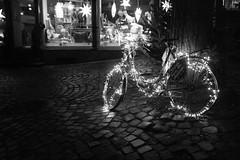 I Want to Light My Bicycle (sfp - sebastian fischer photography) Tags: weinheim streetphotography urban acros fujifilm x100f dooc altstadt xmas weihnachten feiertage festtage holidayseason fahrrad bike bicycle