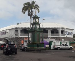 The Berkeley Memorial, The Circus, Basseterre, St Kitts and Nevis (woodytyke) Tags: cruise holiday cruising ship west indies caribbean 2018 boat island vacation tui marella explorer sea sand blue sky hot weather beach building photo best photography woodytyke stephen woodcock scene scenic history ocean colour