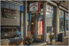 Hot Dogs (Rick Olsen) Tags: wisconsin lakemills smalltown america store window signs fuji fujifilm xt2