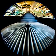 Dreams About Libraries (Thomas Hawk) Tags: america california college photowalk sjphoto2011 sjsu sanjose sanjosestateuniversity sanjosestateuniversitylibrary southbay usa unitedstates unitedstatesofamerica university architecture escalator library fav10 fav25