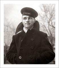 Portrait 063-15 (Steve Given) Tags: socialhistory familyhistory portrait man sailor navy usn coat uniform