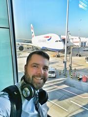 BA Airbus A380 Selfie (Toni Kaarttinen) Tags: usa unitedstates florida wpb america lakeworth lw palmbeachcounty britishairways ba club clubworld business businesstravelling airbus a380 airplane man guy beard bear selfie hairy scruff smile