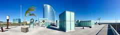 """Plaza sobre el mar"" (atempviatja) Tags: w hotel plazadelosvientos barcelona azul edificios marina plaza rompeolas paseo mar"
