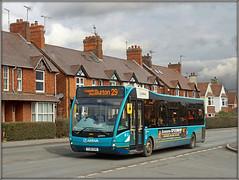 Arriva Midlands 2949 (Jason 87030) Tags: optare versa blue turquoise 29 burton coalville ashbydelazouch leicestershire arriva midlands hosues roadside sony ilce alpha yj61cho 2949