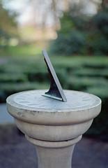 Iveagh (Daire Quinlan) Tags: film 35mm agfa 200 colour c41 diy fujihunt asa200 200asa 50mm planar t f14 contax 167mt dublin iveagh garden park sundial maze labyrinth