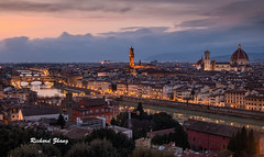 Florence, Italy (simao2015) Tags: florence italy toscana sunset river cityview