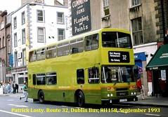 Route 32, Lower Abbey Street to Portmarnock, Dublin Bus, RH158, September 1993 (Shamrock 105) Tags: dublin leyland leylandolympian alexander clontarfgarage dublinbus busathacliath abbeystreet portmarnock