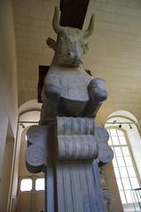 The Louvre - Paris - Part of a Persian Palace Column (sarowen) Tags: france paris parisfrance louvremuseum thelouvre muséedulouvre museum art artwork sculpture sculptures