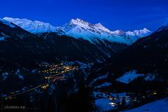 Le Val d'Anniviers et Ayer à l'heure bleue (Switzerland) (christian.rey) Tags: ayer valdanniviers aniiviers valais swiss alpes alps bluehour heurebleue grimentz weisshorn zinalrothorn mountains montagnes paysage landscape sony alpha a7r2 a7rii 24105