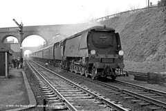 11/03/1964 - Winchester (City), Hampshire. (53A Models) Tags: britishrailways southernrailway bulleid westcountry wc 462 34105 swanage steam passenger pinesexpress winchester hampshire train railway locomotive railroad