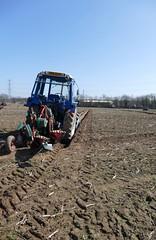 Ploughing (Katie~B) Tags: ploughing farming farm spring tractor furrow soil earth