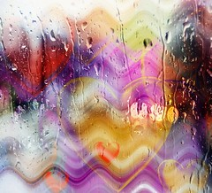 Rainy day with hearts ... (Julie Greg) Tags: rain heart hearts colours canon drops water art abstract