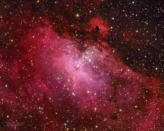 Eagle nebula or M16 (Abel de Burgos) Tags: astrophotography sky universe cosmos night telescope deepsky atik avalon ts130 awesome picture nebula planetary astronomy cielo m16 eagle