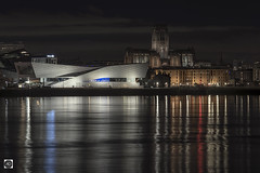 The Almighty and the Relics. (alundisleyimages@gmail.com) Tags: liverpool waterfront unescoworldha eritagesite merseyside cathedral museum roayalbertdock rivermersey refections seascape landscape architecture city town england port harbour oldandnew religion preservation night longexposure nikon manfrotto sigma