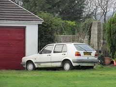 Volkswagen Golf CL 1.6 (Andrew 2.8i) Tags: wales uk carspotting spotted spotting street car cars streetspotting united kingdom german hatch hatchback mark 2 ii mk mk2 16cl 1600cl cl 1600 16 vw golf volkswagen