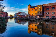 Wigan 09 Jan 2019 00115.jpg (JamesPDeans.co.uk) Tags: warehouse goldenhour forthemanwhohaseverything england wigan gb printsforsale industry windows europe brickbuilt canals commerce unitedkingdom canal reflection transporttransportinfrastructure britain water lancashire wwwjamespdeanscouk landscape architecture greatbritain landscapeforwalls jamespdeansphotography uk digitaldownloadsforlicence