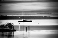 Nightfall over Steinhude (gernot.glaeser) Tags: autumnfall blackandwhite landscape longexposure monochrome night reflection seasons silhouette sky sunset water blackwhite deu germany lowersaxony monochromeworld monochromemonday niedersachsen nikon steinhudermeer
