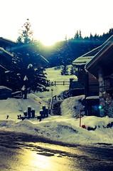Stairs on snow (Navis06) Tags: arbres bois chalets soleil blanc montagne alpes neige savoir courchevel village escaliers