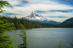 Summertime at Lost Lake (RobertCross1 (off and on)) Tags: a7rii alpha cascaderange cascades emount fe50mmf18 hoodriver ilce7rm2 lostlake mounthood mounthoodnationalforest or oregon pacificnorthwest sup sony bluesky boat clouds forest fullframe glacier kayak lake landscape mirrorless mountain nature snow standuppaddle trees volcanic volcano water