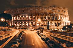 Rome (Sławomir Ostrowski (Kistry)) Tags: rome colosseum night city street ruins anfiteatroflavio amphitheatre
