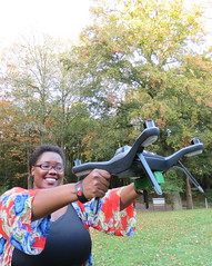 Tanzanian ICT entrepreneur, Rose Funja, shows off one of the drones she a key tool in her data mapping business. Credit: Busani Bafana/IPS (IPS Inter Press Service) Tags: rosefunja drone technology africa tanzania women agriculture