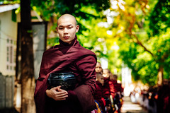 Still waiting for lunch (wilsonchong888) Tags: leicaaposummicronm90mmf2asph leica m10 burma myanmar streetphotography mandalay monasticcollege buddha monk lunch amarapura colour kids boys asia ngc