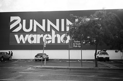 Bunnings Warehouse (Matthew Paul Argall) Tags: kodakstar500af 35mmfilm ilforddelta100 100isofilm blackandwhite blackandwhitefilm building store retail shop bunningswarehouse