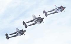 Lockheed P-38 Lightnings Over Chino (GEM097) Tags: airplanes aircraft airshow planesoffame chinoairport lockheedp38lightning n138am nl38tf n505mh