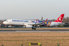 A321 Turkish Airlines (LEGO livery) (Runway25 Photography) Tags: airplane airport aircraft aviation air airliner airline zaventem engine ebbr runway brussels bru fly flying sky wings nikon plane photography spotting d5600 flight jet landing wing cockpit belgium
