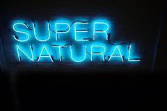 SUPERNATURAL (Rob₊Lee) Tags: blue words texts super natural supernatural neon art light shadow sign