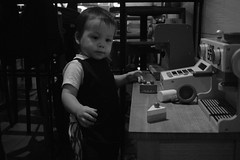 Campos Cafe Cook (Too busy with Doctors' appointments) Tags: bw toddler camposcafe dulwichhill