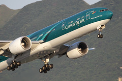 B-KPF, Boeing 777-300ER, Cathay Pacific, Hong Kong (ColinParker777) Tags: cathay pacific cx cpa airlines airways air boeing 777 77w 777300er 777300 777367er airplane airliner aeroplane aircraft flying flight fly departure takeoff climb travel hkg vhhh chek lap kok international airport canon 7d l lens pro zoom telephoto sky window cockpit jet bkpf asias world city special scheme livery colors colours 100400 lantau 36832 692
