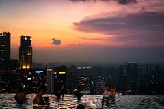 generation selfie (Rafael Zenon Wagner) Tags: evening abend pool sonnenuntergang sundown wasser water spiegelung reflection