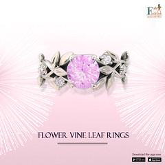 Flower Vine Leaf Rings (fabfashionaccessories123) Tags: fashionjewelry jewellerydesign jewelryshopping jewellerydesigns artificial jewellery