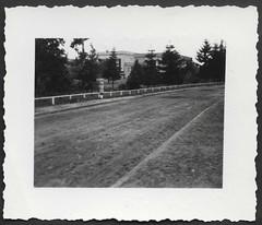 Archiv S775 Brigitte, August 1957 (Hans-Michael Tappen) Tags: archivhansmichaeltappen fotorahmen outdoor gebäude architektur mädchen panorama strase geländer gehweg landstrase 1957 1950s 1950er