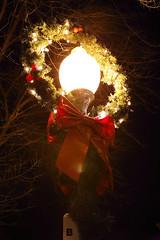 Streetlamp (nicolemonsees) Tags: saratoga saratogasprings streetlamp christmas lights christmaslights night winter nightphotography