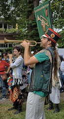 Trumpeter (Scott 97006) Tags: man musician guy music trumpet horn outfit protest