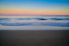 The Beach at Sunset over the Atlantic Ocean - Virginia Beach VA (mbell1975) Tags: virginiabeach virginia unitedstates us the beach sunset over atlantic ocean va usa america evening dusk water shore shoreline coast coastline surf yellow orange pink