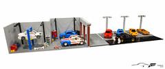 Forza Horizon Shop (Masked Builder) Tags: lego moc shop cars forzahorizon3 forza car mclaren subaru nissan lamborghini