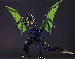 Tarākuna - 1 (Gamma-Raay) Tags: dragon wing bionicle purple green scales fly lego moc ccbs creature