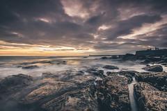 Forecast was wrong! (ianbrodie1) Tags: tynemouth priory sea seascape coast coastline northeast tyneside rocks longexposure leefilters ocean low tide sunrise cloudsstormssunsetssunrises clouds colour