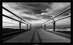 Skywalk II (Dierk Topp) Tags: a7r bw himmel ilce7r ir sonya7rir architecture atlantic canaryislands clouds infrared infrarot islascanarias lapalma lava monochrom sw sony volcanos wolken