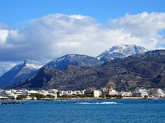 Sunny day with snow in Thripti mountains. (Ia Löfquist) Tags: crete kreta theofania ierapetra mountain berg snow snö winter vinter sea hav city stad
