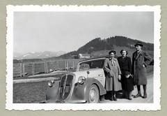 "Steyr 120 Super Cabriolet (Vintage Cars & People) Tags: vintage classic black white ""blackwhite"" sw photo foto photography automobile car cars motor steyr steyr120 steyrcabriolet steyr120super 1950s fifties fashion hat beret coat father mother child parents grandparents generation generations family"