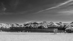 By Derwent Water (Future-Echoes) Tags: 4star 2018 blackandwhite cumbria derwentwater infrared keswick lake people sky thelakedistrict water